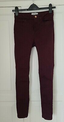 £4 • Buy Womens NEW LOOK Ankle Grazer Plum Coloured Jeans Size 8 Pre-Owned