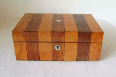 AU65.40 • Buy Antique Rosewood And Satinwood Sewing Box With Pearl Inlays C.1800 A/F