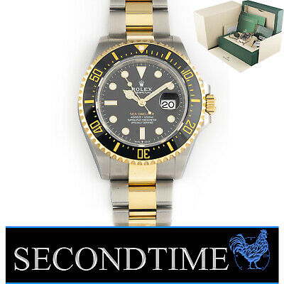 $ CDN22533.41 • Buy April 2021 Rolex Sea-Dweller Two Tone 18k Gold And Steel 43mm 126603 Box Papers