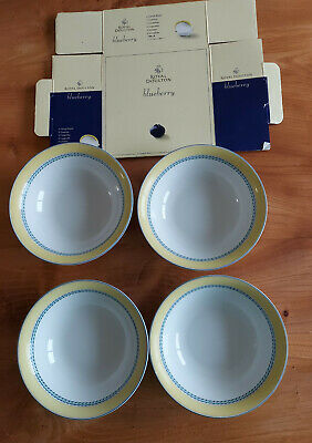 £3.99 • Buy Royal Doulton Cereal Dishes Blueberry  X FOUR