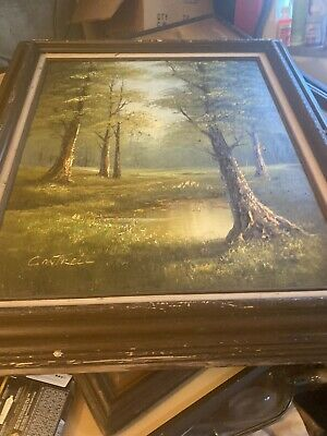 $ CDN125.88 • Buy Cantrell Original Oil On Canvas River Creek Landscape Painting