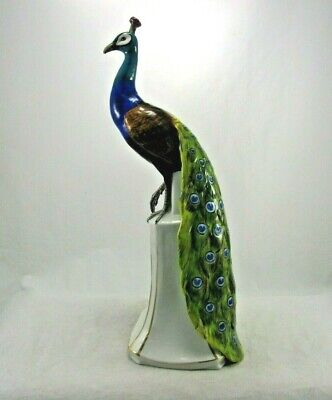 $ CDN377.64 • Buy Antique Dresden Germany Porcelain Peacock Hand Painted Figurine Statue