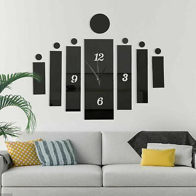 £3.48 • Buy 3D Large Number Wall Clock Mirror Sticker Home Office Kids Room Decal Decoration