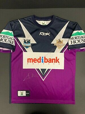 AU495 • Buy NRL MELBOURNE STORM REEBOK JERSEY SIGNED BY SMITH INGLIS 2007 Premiers