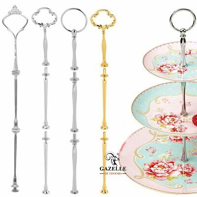 £4.19 • Buy Gold Silver 3 Tier Handle Fittings For Tea Shop Room Hotel Cake Plate Stand UK