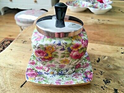 $ CDN32.89 • Buy Vintage Royal Winton Preserve Pot With Under Plate In Summertime  Chintz