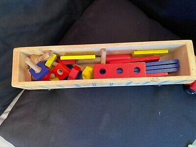 £0.99 • Buy Melissa And Doug Wooden Tool Set And Large Building Toy Truck