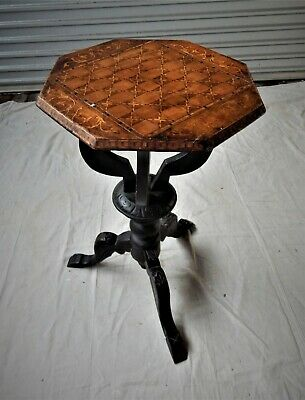 AU400 • Buy Antique Chess Table With Swivel Top And Crafted Inlay Features.