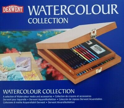 £22 • Buy Derwent Watercolour Collection In Wooden Box