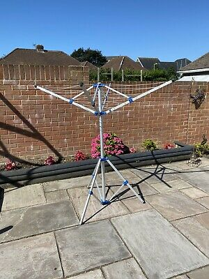 £12 • Buy Heavy Rotary Clothes Airer Dryer 4 Arms Washing Line Free Stand Patio Camping