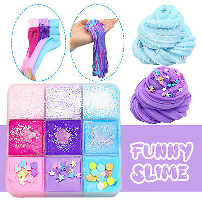 AU9.97 • Buy 9 Color Mixing Cloud Cotton Candy Slime Soft Non-Sticky Kids DIY Slime Mud Toy