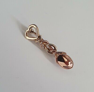 £67 • Buy Rare Vintage Clogau 9ct Yellow & Rose Welsh Gold Lovespoons Brooch / Pendant