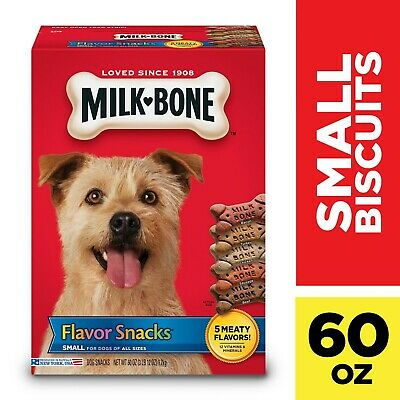 $26.93 • Buy Milk-Bone Flavor Snacks Dog Biscuits, Small, Treats For Dogs, 60-Ounce