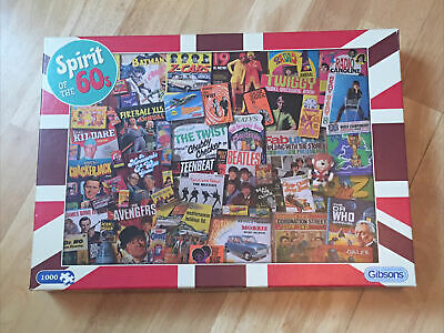 £5.99 • Buy GIBSONS  SPIRIT OF THE 60's 1000 Piece Jigsaw Puzzle