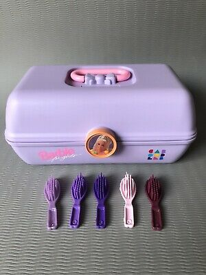 $ CDN37.64 • Buy Vintage Barbie Caboodles Purple Carrying Storage Case & Combs A005-4