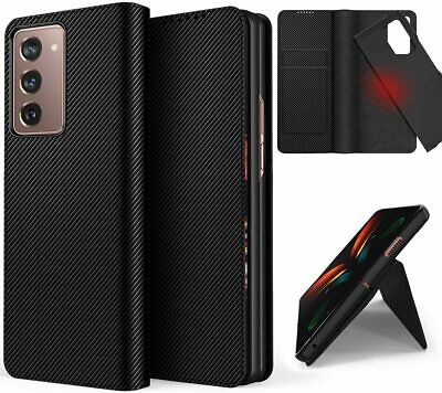 AU34.95 • Buy For Samsung Galaxy Z Fold 3 /2 2in1 Magnet Carbon Leather Wallet Flip Case Cover