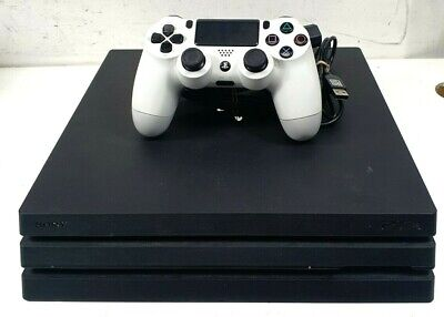 AU207.50 • Buy Sony Playstation 4 PRO PS4 CUH-7002B 1TB Black Gaming Console + White Controller