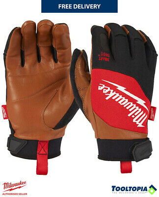 £20.98 • Buy Milwaukee Hybrid Leather Work Gloves Cut Resistance Protection M - XXL