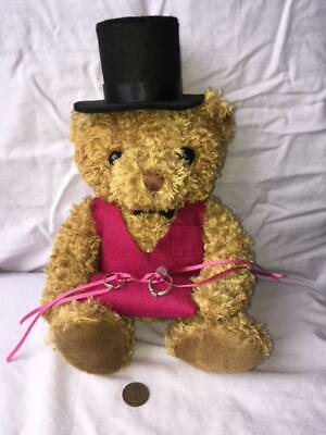 £15 • Buy Teddy Bear Ring Bearer Pillow - Cushion. With Sixpence In Pocket For Luck.