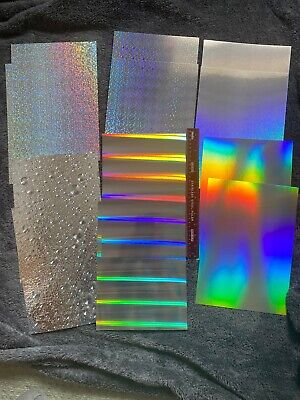 £2.75 • Buy 12 X A4 Sheets Of QUALITY SILVER HOLOGRAPHIC & MIRI CARD, 6 Designs