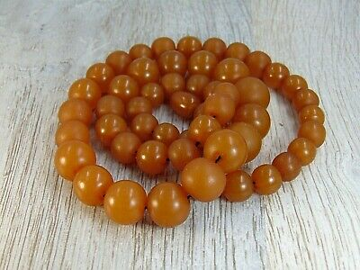 £43.25 • Buy Antique 52g. Natural Butterscotch BALTIC AMBER Beads Necklace 老琥珀