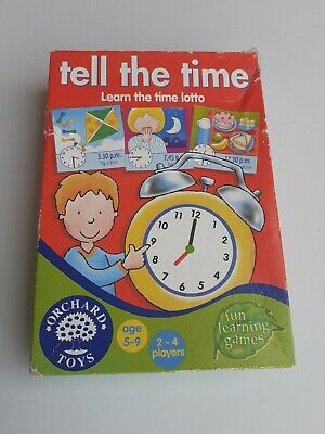 AU5.56 • Buy Orchard Toys Tell The Time Age 5-9, Years 2-4 Players Lotto Fun Learning Game