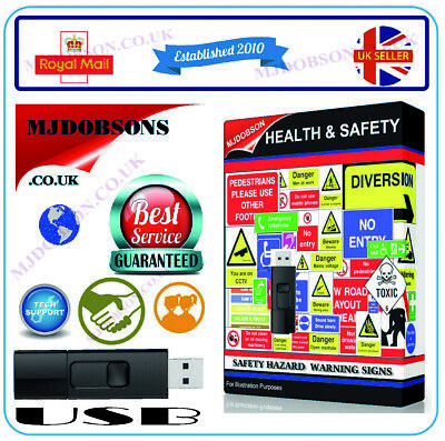 £12.95 • Buy Health And Safety Hazard & Warning Signs + Posters Free Post