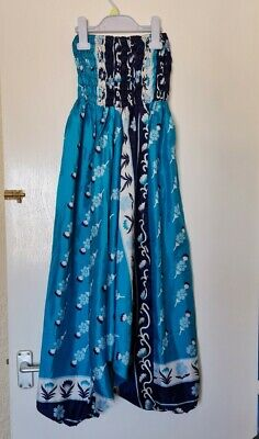 £10 • Buy Womens Lightweight Jumpsuit Patterned Baggy Hippy Hareem Aladdin Trousers Silk