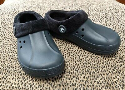 $12.99 • Buy CROCS Unisex Women 9 Men 7 Fleece Lined Shoes Clogs Slippers Exc Preowned Cond!