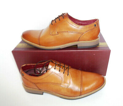 £25.98 • Buy Base London Mens Leather Tan Derby Lace Formal Shoes New RRP £80 UK Sizes 5 6 7