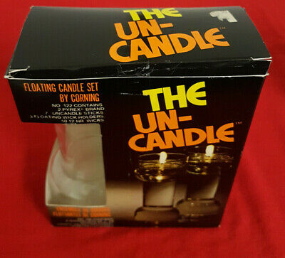 £11.46 • Buy Vintage  The Un-Candle  By Corning. Model 122 Floating Wick. NIB. 7  Candle.