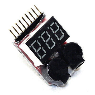 £0.01 • Buy RC Lipo Battery Low Voltage Alarm 1S-8S Buzzer Indicator Checker LED Tester M1K6