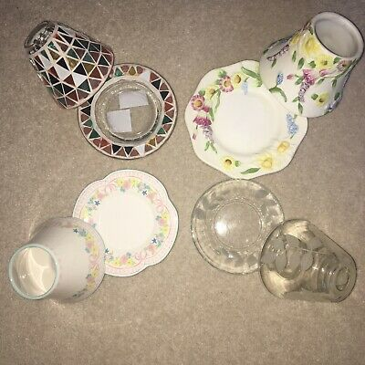 £9.99 • Buy Yankee Candle Small Shade And Plate Sets Clearance Each Corsica Garden Tea Rose