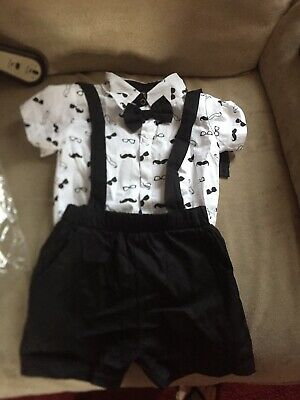 £10 • Buy Brand New Lovely Baby Boy Bow Tie Outfit 6 Months And Up