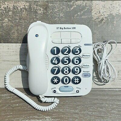 £19.99 • Buy BT Big Button 100 Corded House Office Telephone Hard Of Hearing Phone With Box