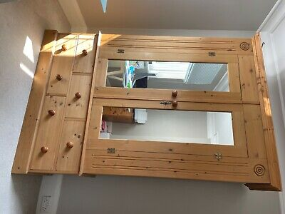 £236 • Buy Solid Pine Wardrobe With Drawers Used
