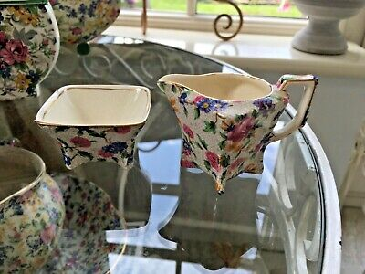 $ CDN15.58 • Buy Vintage Royal Winton Small Jug And Bowl In Old Cottage Chintz