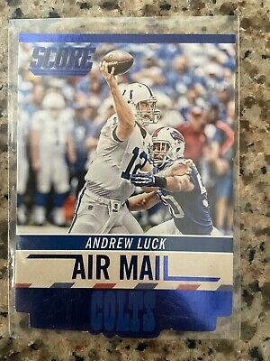 $2 • Buy 2014 Score Air Mail Blue Die Cut Andrew Luck #AM5 Colts