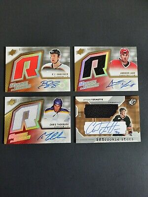 $ CDN9.99 • Buy  Spx Ud Rookie Jersey Auto Signature Number /1999 /925 Lot Of 4 Vermette Ladd ++