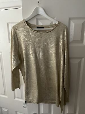 £4 • Buy Autograph Marks And Spencer Gold Shimmer Top Size 22