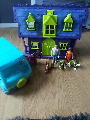 £14.99 • Buy Scooby Doo Haunted House Mansion And Mystery Machine With Figures
