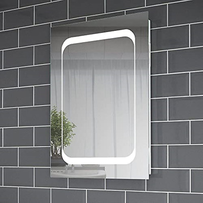 £224.35 • Buy Pebble Grey™ Leila 500 X 700mm Illuminated LED Bathroom Mirror With Shaver And |