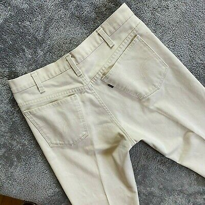 $54.99 • Buy Vintage 1970s USA Made Levis Sta Prest Pants 31 X 31 Trousers Ivory