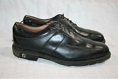 $24.95 • Buy Footjoy Icon Black Leather Golf Shoes 12 M