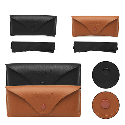 £3.89 • Buy Unisex Reading Glasses Sunglasses Faux Leather Carrying Case Travel Pouch