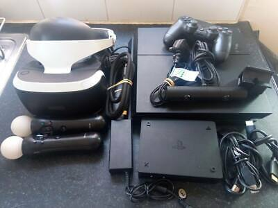 AU934.27 • Buy PS4 PRO 1TB Console + Full PS VR Bundle Camera And Move Controllers