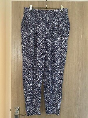 £1.30 • Buy Womans Loose Casual Patterned Trousers Elastic Waistband Size 12-14