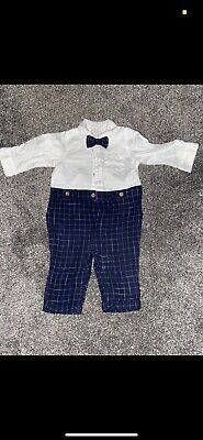 £0.99 • Buy Baby Boy Bow Tie Smart Outfit 3-6 Months