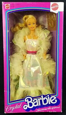 £236.44 • Buy Barbie Crystal Barbie Doll She Shines With Glamour! 1983 Mattel No. 4598 NRFB