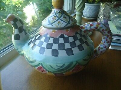 $189 • Buy NEW Mackenzie Childs Taylor  Teapot NEVER USED With TAG!!!!!